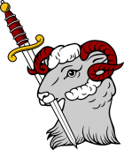 Ram Head Erased Holding Sword