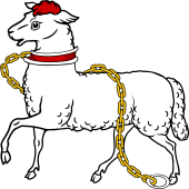 Lamb Passant Collared and Chained