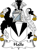 English Coat of Arms for Halls