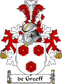 Dutch Coat of Arms for de Greeff