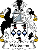 English Coat of Arms for Welborne or Welburn