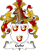 German Wappen Coat of Arms for Gohr