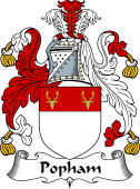 English Coat of Arms for Popham