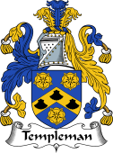English Coat of Arms for Templeman