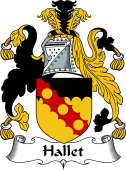 English Coat of Arms for Hallet