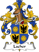 German Wappen Coat of Arms for Lacher