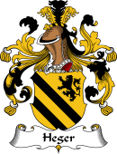 German Wappen Coat of Arms for Heger