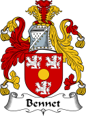 English Coat of Arms for Bennet