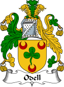 Irish Coat of Arms for Odell