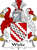 English Coat of Arms for Wicke