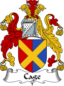 English Coat of Arms for Cage