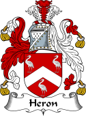 English Coat of Arms for Heron