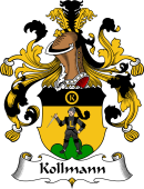 German Wappen Coat of Arms for Kollmann