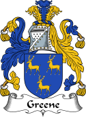 Irish Coat of Arms for Greene