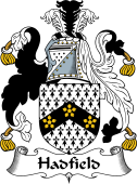 English Coat of Arms for Hadfield or Hatfield