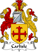 English Coat of Arms for Carlill or Carlisle