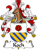 German Wappen Coat of Arms for Koch