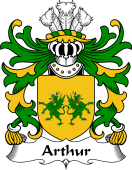 Welsh Coat of Arms for Arthur I (ab uthr pendragon-King Arthur)