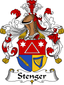 German Wappen Coat of Arms for Stenger