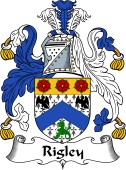 English Coat of Arms for Rigley or Wrigley