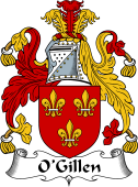 Irish Coat of Arms for O'Gillen or Gillan