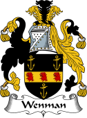 English Coat of Arms for Wayneman or Wenman