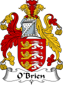 Irish Coat of Arms for O'Brien