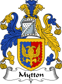 English Coat of Arms for Mytton
