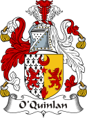 Irish Coat of Arms for O'Quinlan or Quinlevan