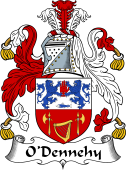 Irish Coat of Arms for O'Dennehy or Denny