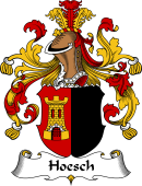 German Wappen Coat of Arms for Hoesch