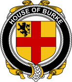 Irish Coat of Arms Badge for the BURKE family