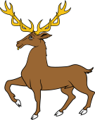 Stag Trippant or Passant