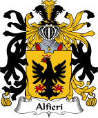 Italian Coat of Arms for Alfieri