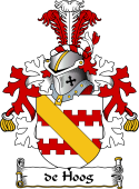 Dutch Coat of Arms for de Hoog
