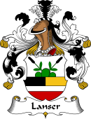 German Wappen Coat of Arms for Lanser
