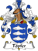 German Wappen Coat of Arms for Töpfer