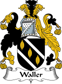 English Coat of Arms for Waller