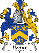English Coat of Arms for Hammes or Hames