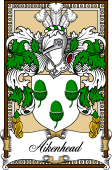 Scottish Coat of Arms Bookplate for Aikenhead