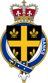British Garter Coat of Arms for Banks (England)