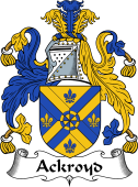 English Coat of Arms for Ackroyd