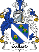 English Coat of Arms for Gallard