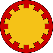 Circular Shield-Bordure Embattled
