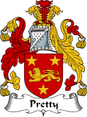 English Coat of Arms for Prettyman or Pretty