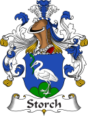 German Wappen Coat of Arms for Storch