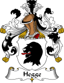 German Wappen Coat of Arms for Hegge