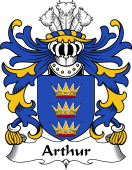 Welsh Coat of Arms for Arthur II (ab uthr pendragon-King Arthur)