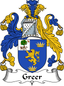 Irish Coat of Arms for Greer
