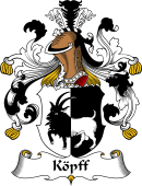 German Wappen Coat of Arms for Köpff